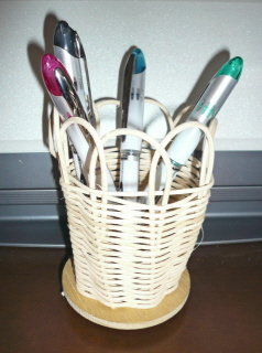 Pen holder Andrew made