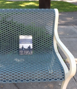 Book on a bench.